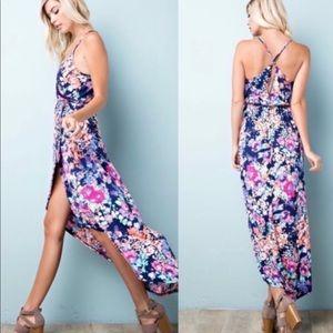 Dresses & Skirts - LAST ONE!🔥🔥SALE💗⭐️Floral Wrap Maxi Dress!